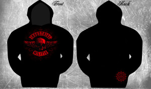 skull and wing hoody
